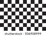 checkered racing flag. symbolic ... | Shutterstock .eps vector #506908999