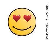 in love emoticon | Shutterstock .eps vector #506920084