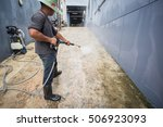 cleaning with high pressure... | Shutterstock . vector #506923093