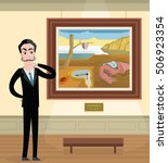 surrealist time painting in... | Shutterstock .eps vector #506923354