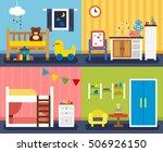 a variety of children's room... | Shutterstock .eps vector #506926150