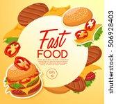 fast food elements   vector... | Shutterstock .eps vector #506928403