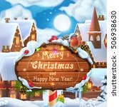 merry christmas and happy new... | Shutterstock .eps vector #506938630
