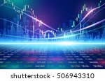 stock exchange concept  vector... | Shutterstock .eps vector #506943310