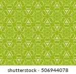 seamless floral geometric...   Shutterstock .eps vector #506944078