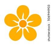 Yellow Five Petal Flower...