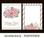 vintage delicate invitation... | Shutterstock .eps vector #506945404