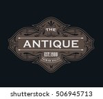 antique label typography logo... | Shutterstock .eps vector #506945713