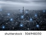 smart city scape and network... | Shutterstock . vector #506948350