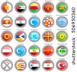 Set Of Icons. Flags Of The Asi...