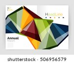 business abstract geometric... | Shutterstock .eps vector #506956579