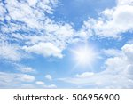 sun and clouds in the blue sky... | Shutterstock . vector #506956900