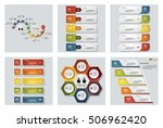 collection of 6 design colorful ... | Shutterstock .eps vector #506962420