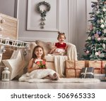 merry christmas and happy... | Shutterstock . vector #506965333