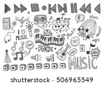 music signs | Shutterstock .eps vector #506965549