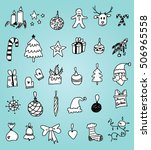 christmas doodles | Shutterstock .eps vector #506965558