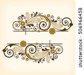 Stock vector vector vintage floral background 506966458