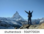 The Man And Matterhorn Mountain