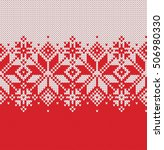 norway festive sweater fairisle ... | Shutterstock .eps vector #506980330