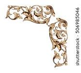 vintage baroque corner scroll... | Shutterstock .eps vector #506985046