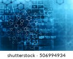 medical abstract background .... | Shutterstock . vector #506994934