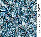seamless background. lilies....   Shutterstock . vector #506994970