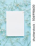 wedding mockup with white paper ... | Shutterstock . vector #506998600