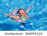 little girl swimming in the... | Shutterstock . vector #506999110