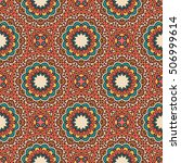 seamless pattern with mandala. | Shutterstock .eps vector #506999614