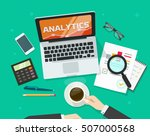 financial auditing report... | Shutterstock .eps vector #507000568