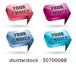 chat box | Shutterstock .eps vector #50700088