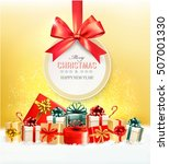 christmas presents with a gift... | Shutterstock .eps vector #507001330