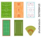 fields set for sport games top... | Shutterstock .eps vector #507008410