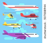 aircraft  airplane  plane ...   Shutterstock .eps vector #507008944
