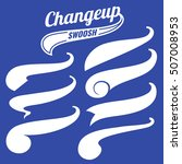 vintage swash baseball logo... | Shutterstock .eps vector #507008953