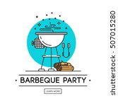barbeque party illustration | Shutterstock .eps vector #507015280