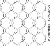 seamless curved shape pattern.... | Shutterstock .eps vector #507016408