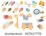 office process set. searching ... | Shutterstock .eps vector #507017770