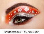 eye girl makeover snowflakes.... | Shutterstock . vector #507018154