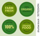 organic badge and label set... | Shutterstock .eps vector #507020494