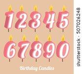 birthday anniversary numbers... | Shutterstock .eps vector #507026248