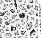 kitchen pattern. cooking... | Shutterstock .eps vector #507026320