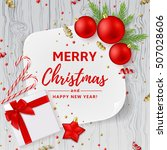 christmas or new year... | Shutterstock .eps vector #507028606