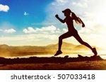 silhouette of active healthy...   Shutterstock . vector #507033418