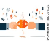 negotiation concept  opposite... | Shutterstock .eps vector #507034138