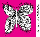 abstract butterfly drawing | Shutterstock .eps vector #50703436