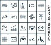 set of 20 universal editable... | Shutterstock .eps vector #507035794