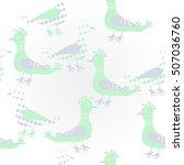 pattern  halftone  birds.   Shutterstock . vector #507036760