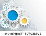 vector illustration gear wheel. ... | Shutterstock .eps vector #507036928