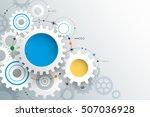 vector illustration gear wheel. ... | Shutterstock .eps vector #507036928